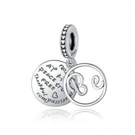 Sterling silver pendant charm Good wishes