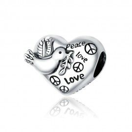 Zilveren bedel Liefde en vrede