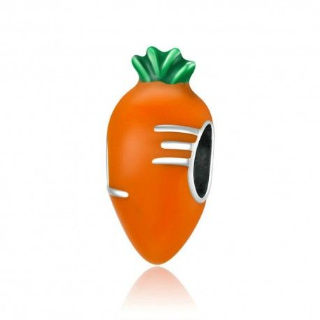Sterling silver charm Cute carrot