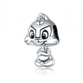 Sterling silver charm Cute squirrel