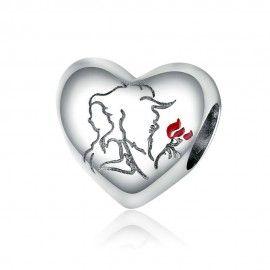 Zilveren bedel Liefdes schets