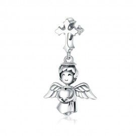 Charm pendente in argento Angelo sorridente