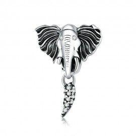 Charm pendente in argento Elefante
