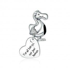Charm pendente in argento Uccello Dodo