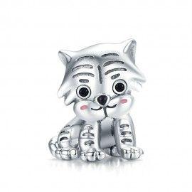 Zilveren bedel Baby tijger