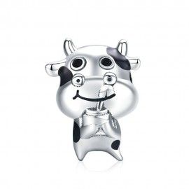 Charm in argento Piccola mucca