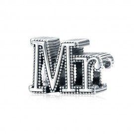 Sterling silver charm Mr