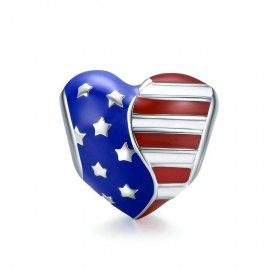 Sterling silver charm American flag