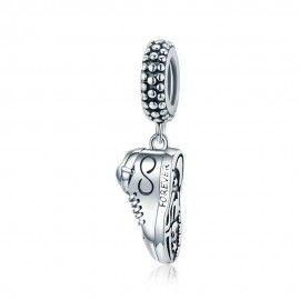 Sterling silver pendant charm Love sneaker