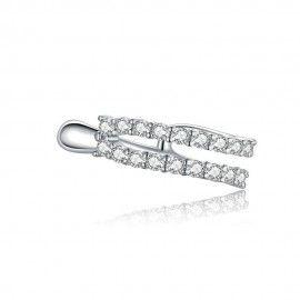 Silver earring Dazzling 1 piece
