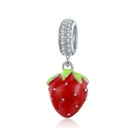 Sterling silver pendant charm Strawberry