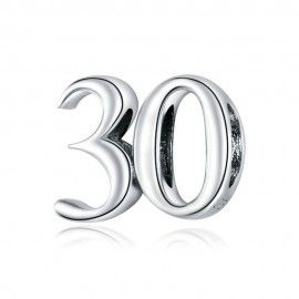 Zilveren bedel 30
