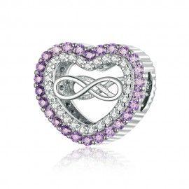 Zilveren bedel Oneindig hart