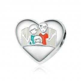Zilveren bedel Gelukkig gezin