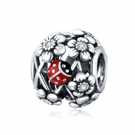 Sterling silver charm Ladybug