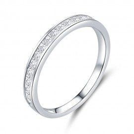 Sterling zilveren ring Glimmend