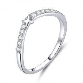 Sterling silver ring Star