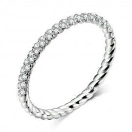 Sterling silver ring Love