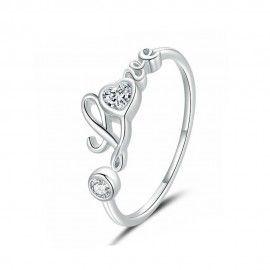 Sterling zilveren ring Ware liefde