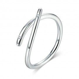 Sterling zilveren ring Modern