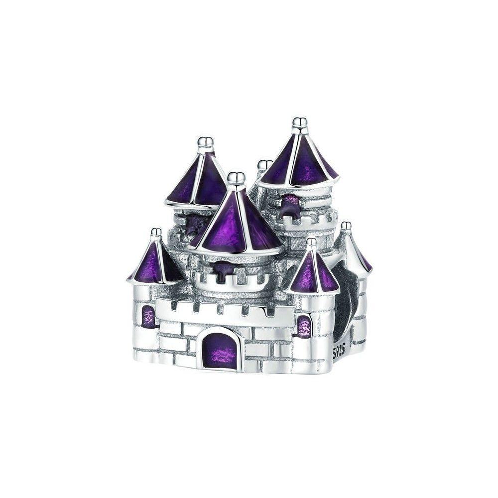 Sterling silver charm Fairytale castle
