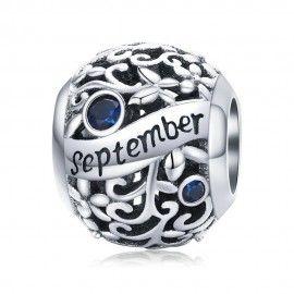 Sterling silver charm Birthday month September