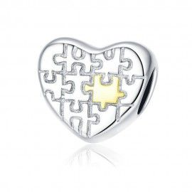 Sterling silver charm Love puzzle