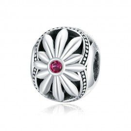 Sterling silver charm Little daisy