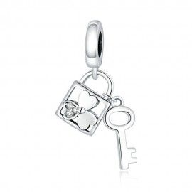 Sterling silver pendant charm Lucky key