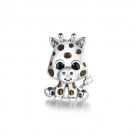 Sterling silver charm Baby giraffe