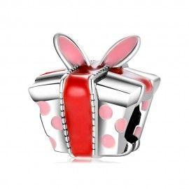 Zilveren bedel Geschenkdoos met oren