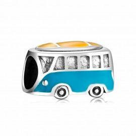 Sterling silver charm School bus