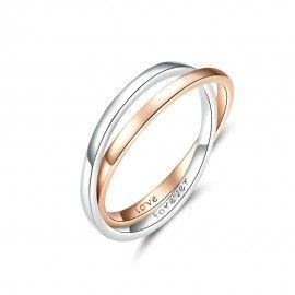 Sterling zilveren ring Liefde voor altijd