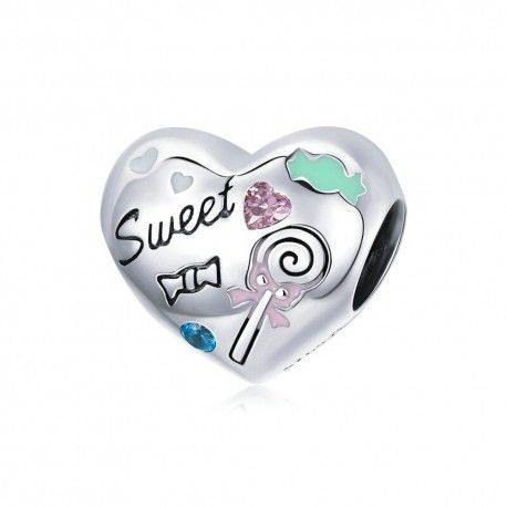 Sterling silver charm Sweet candy