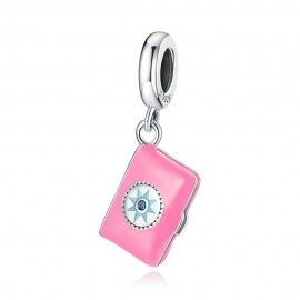 Sterling silver pendant charm Diary