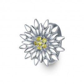 Sterling silver stopper Sunflower