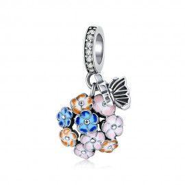 Charm pendentif en argent Jardin coloré