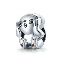 Sterling silver charm Cute sloth