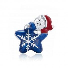 Zilveren bedel De kerstman