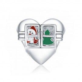 Zilveren bedel Kerstwensen