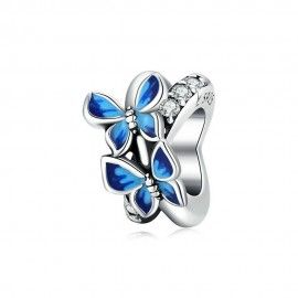 Sterling silver spacer Flying butterfly