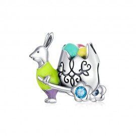 Zilveren bedel Meneer konijn