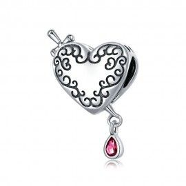 Sterling silver charm Cupid's arrow