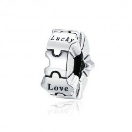 Sterling silver charm Love, lucky, smile, dream