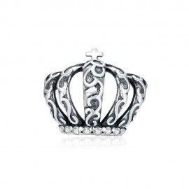 Sterling silver charm Vintage royal crown
