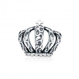 Zilveren bedel Vintage koninklijke kroon
