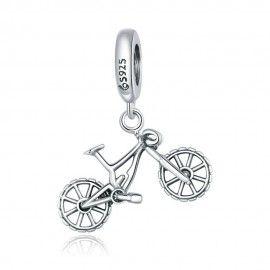 Zilveren hangende bedel Mountain bike