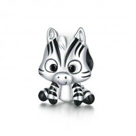 Sterling silver charm Zebra