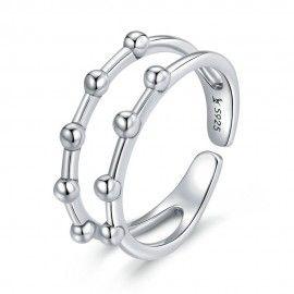 Sterling zilveren ring Stippen