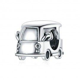 Zilveren bedel Mini auto